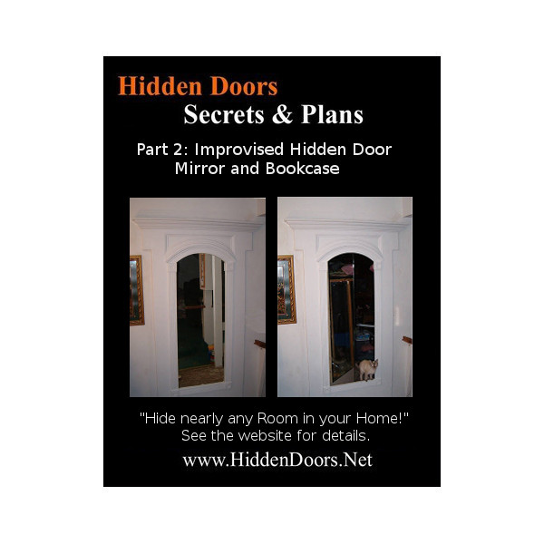 Improvised Hidden Door. Victorian Mirror U0026 Bookcase Plans.